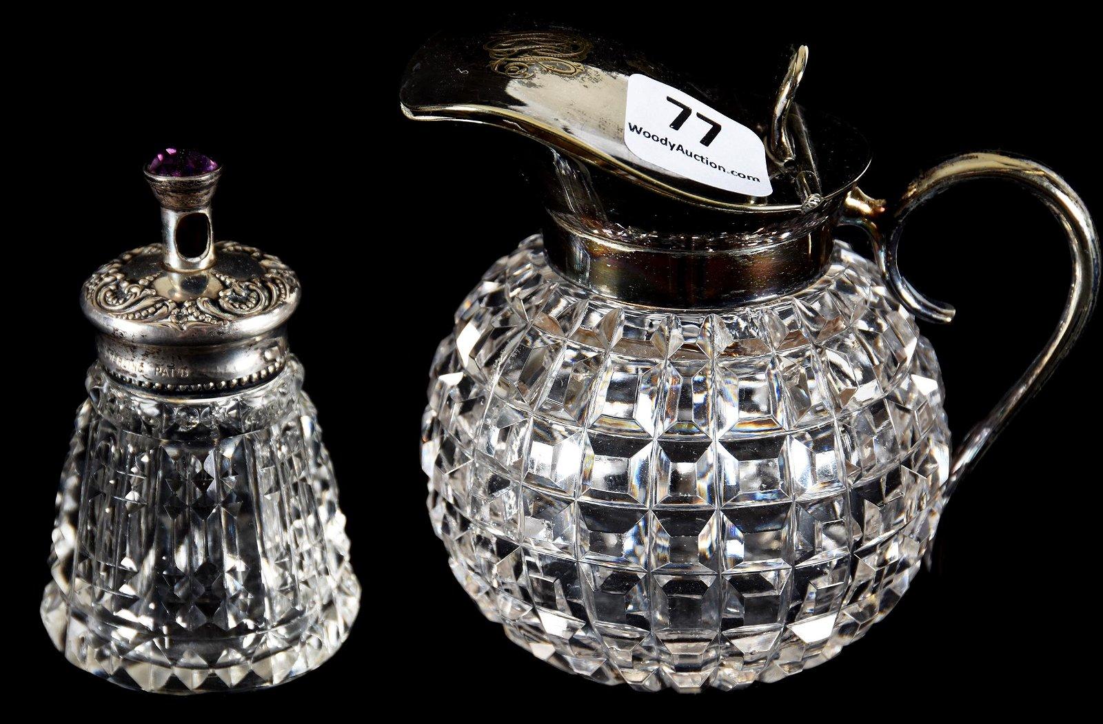 (2) American Brilliant Cut Glass Items