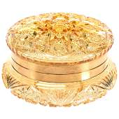Round Dresser Box, ABCG, Solid Gold Color