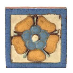 Tile Marked Grueby Tile Boston Art Pottery
