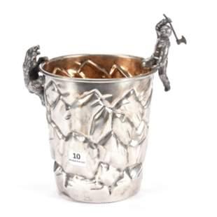 Figural Ice Bucket, Silverplate