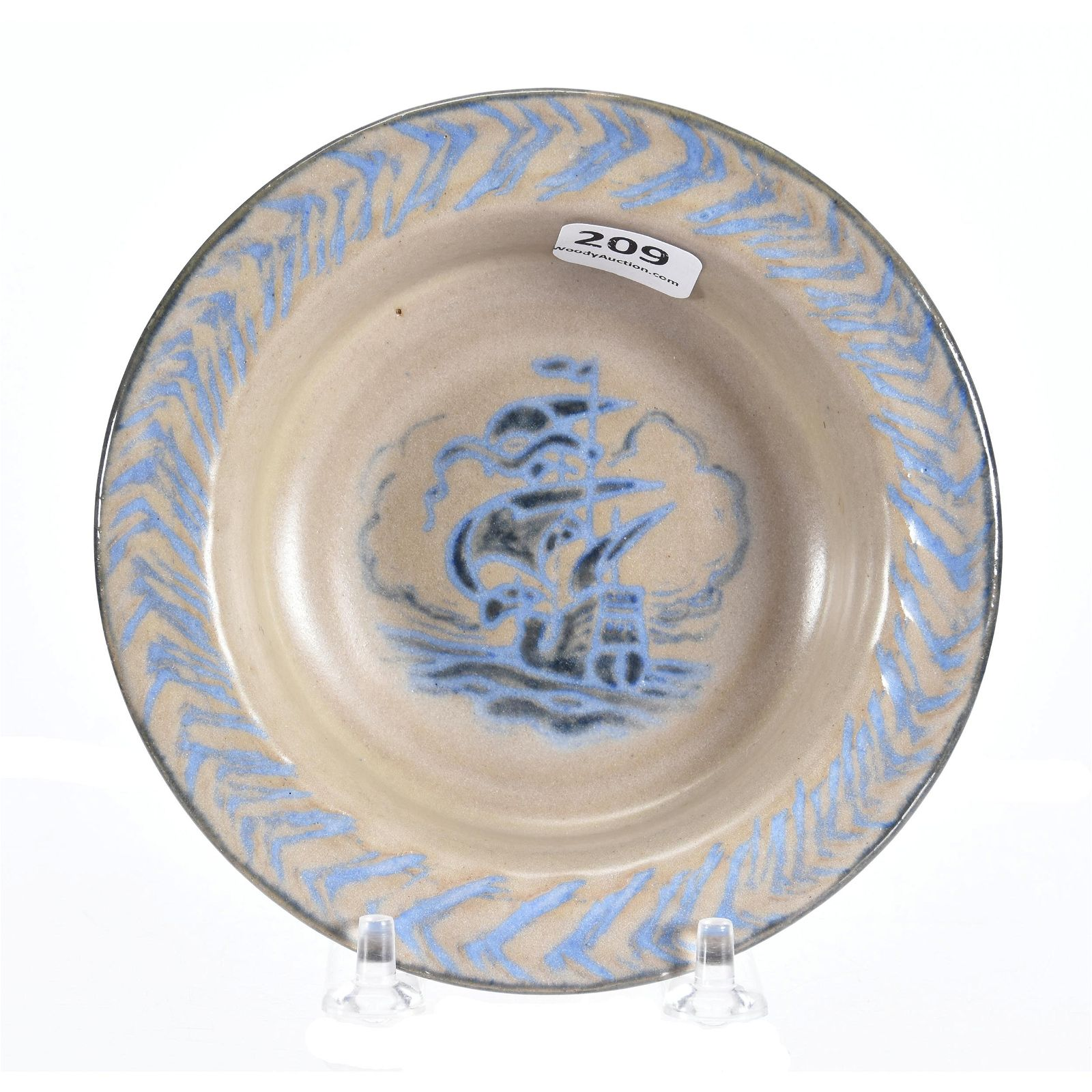 Dish, Art Pottery Marked Marblehead Pottery