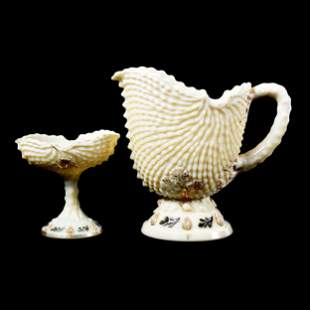 (2) Pieces Custard Glass By Northwood