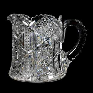 Cider Pitcher, ABCG, Signed Libbey
