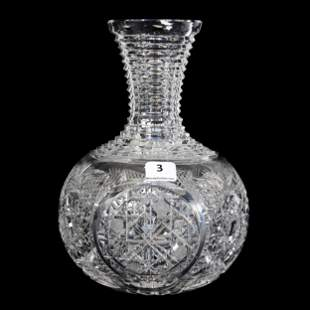 Water Carafe, American Brilliant Cut Glass