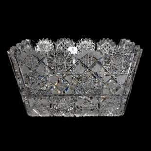 Square Bowl, American Brilliant Cut Glass