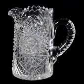 Milk Pitcher, American Brilliant Cut Glass