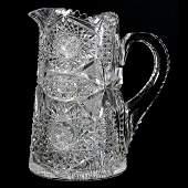 Pitcher, American Brilliant Cut Glass