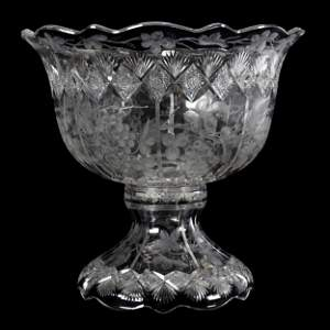 Punch Bowl, Two Piece, ABCG, Signed Sinclaire