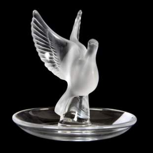 Pin Tray Signed Lalique France, Thalie