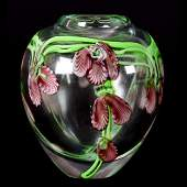 Contemporary Art Glass Paperweight Vase
