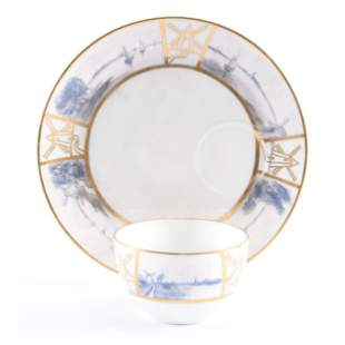Cup & Matching Luncheon Plate, Royal Rudolstadt