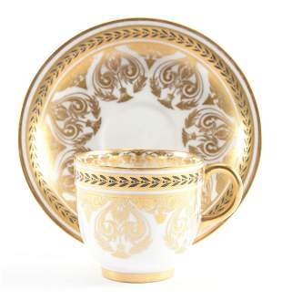Cup & Saucer Marked J. Pouyat Limoges