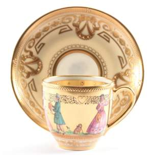 Cup & Saucer Marked Dresden