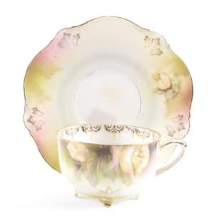 Cup & Saucer Marked R.S. Prussia