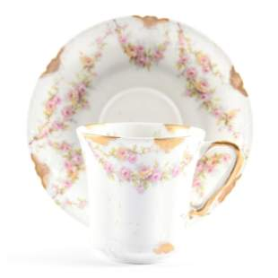 Cup & Saucer Marked Theodore Haviland