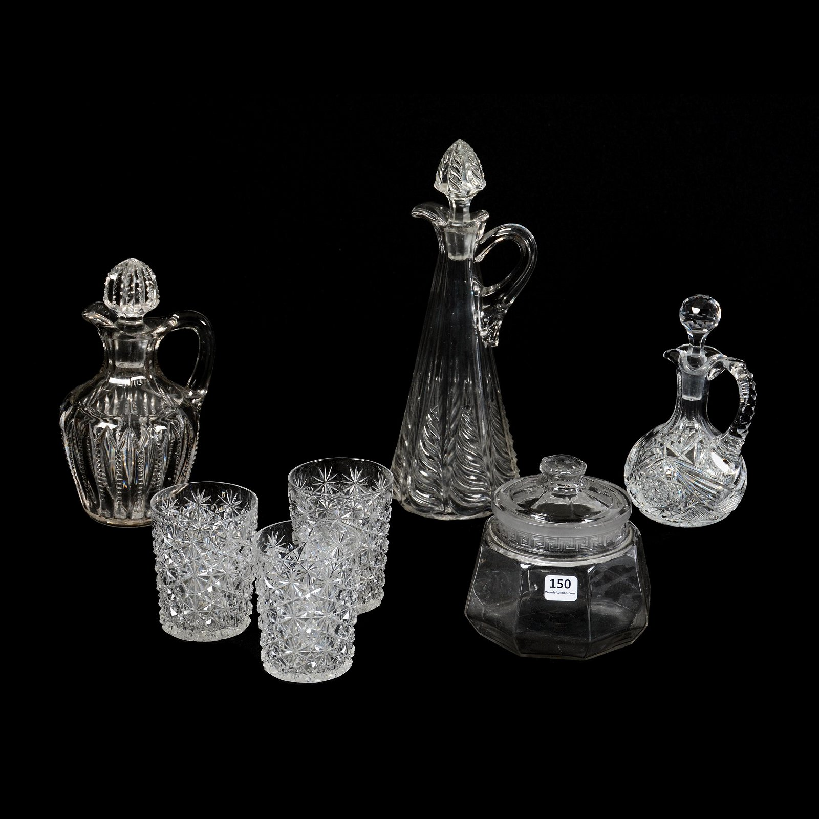 (7) Clear Glass Items