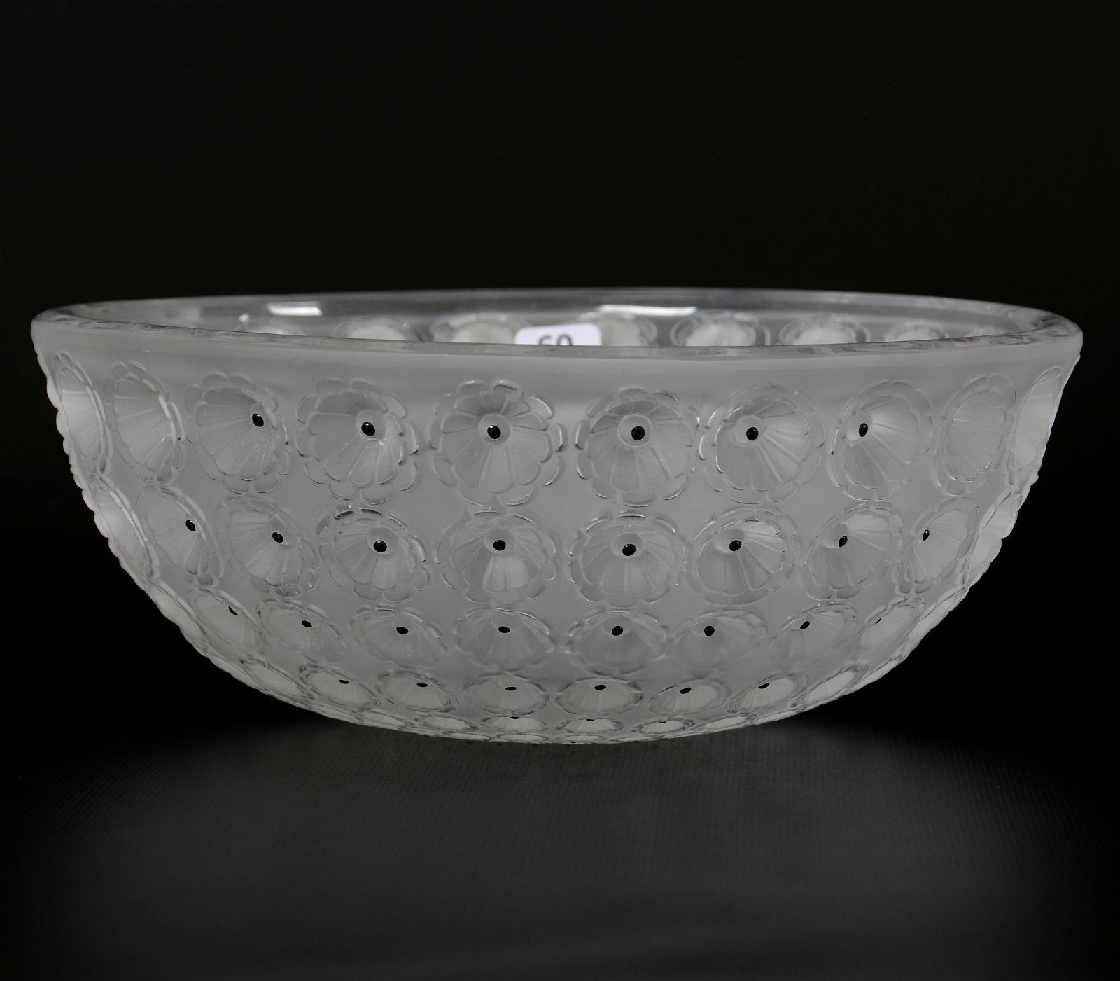 Bowl Signed Lalique France, Nemours Pattern