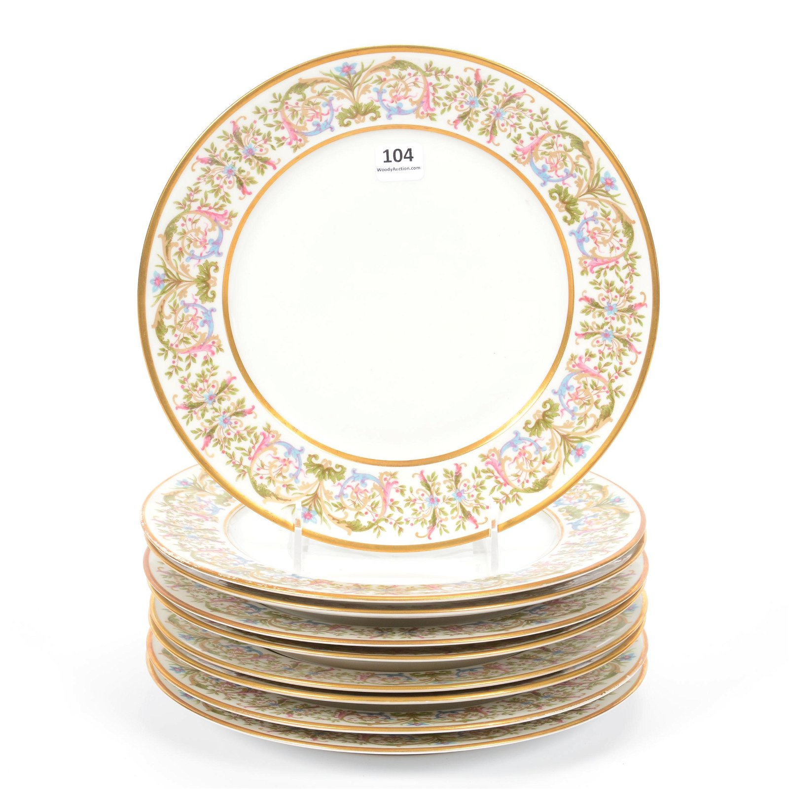 (9) Dinner Plates, Marked French Depose