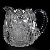 Cider Pitcher, American Brilliant Cut Glass