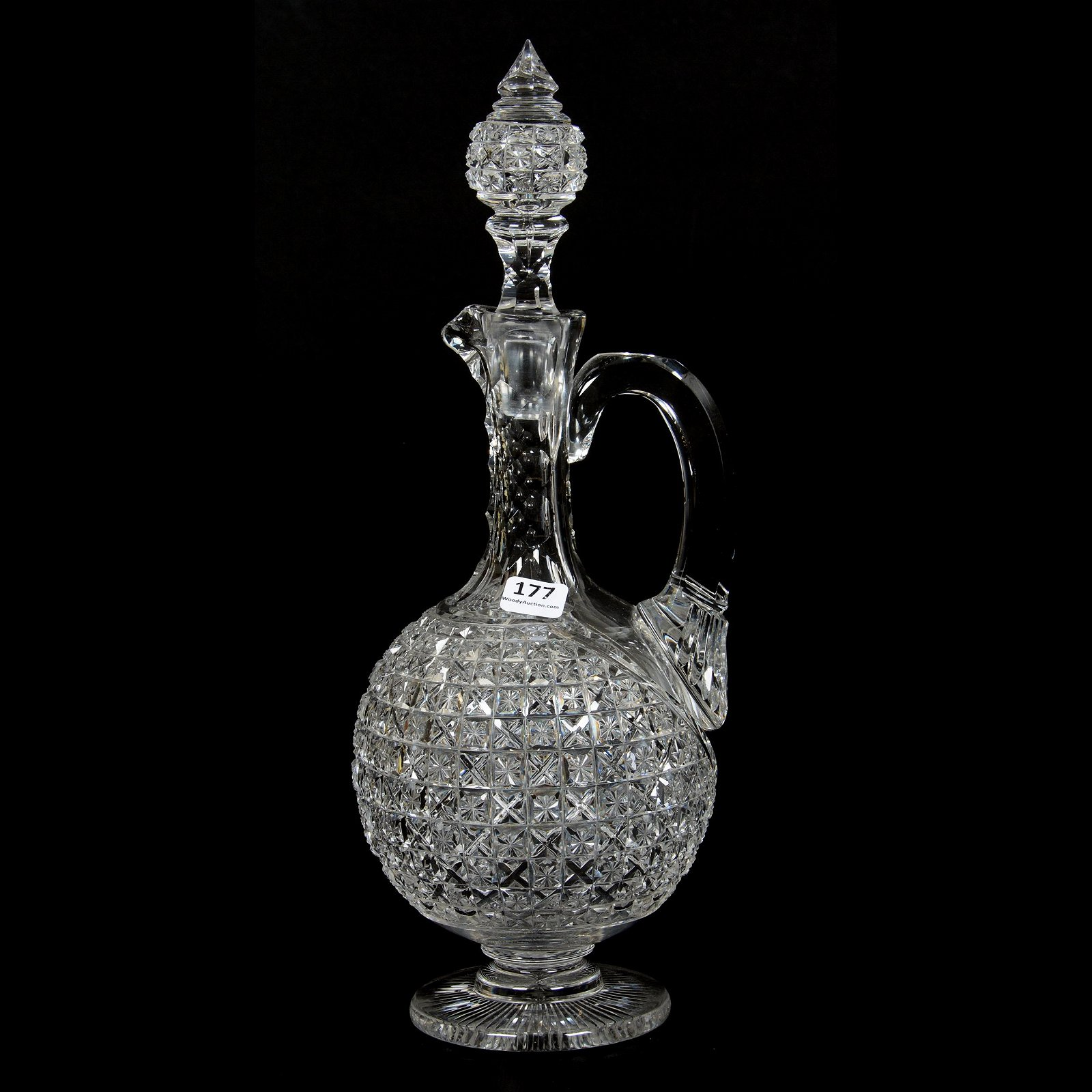 Pedestal Decanter, American Brilliant Cut Glass