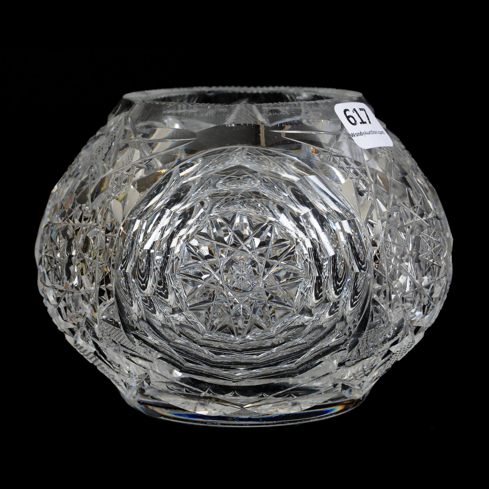 Rose Bowl, American Brilliant Cut Glass