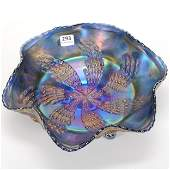 Carnival Glass Bowl Fantail Pattern by Fenton