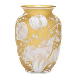 Vase, English Cameo Attributed to Thomas Webb & Sons