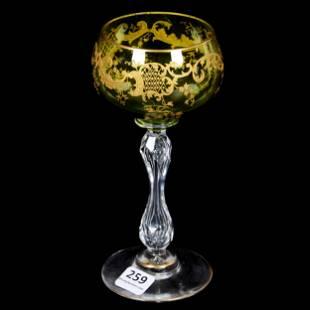 Wine Stem Green Bowls WEngraving