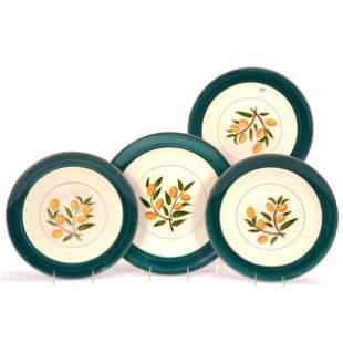 (4) Stangl Pottery Chargers, Kumquat Pattern