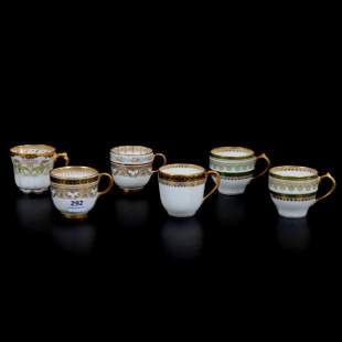 (6) Demitasse Cups Marked Limoges