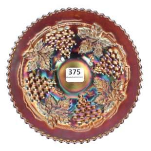 Carnival Glass Plate, Northwood Grape, Amethyst