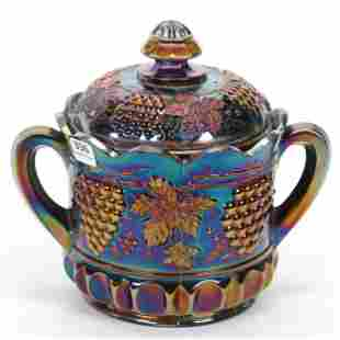 Carnival Glass Cracker Jar, Northwood Grape
