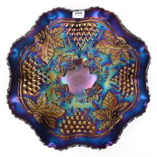 Carnival Glass Bowl, Northwood Grape