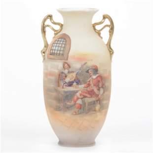 Vase Marked Royal Bayreuth, Tapestry Cavalier Decor