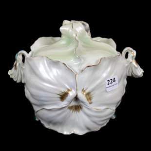 Cracker Jar Marked Royal Bayreuth Pansy