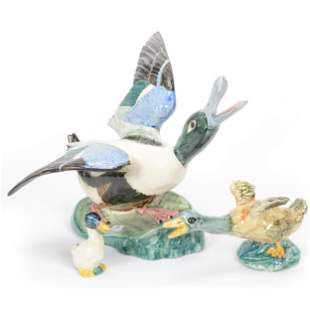 (3) Duck Figures Marked Stangl Pottery