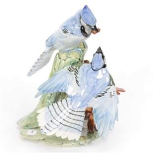 Blue Jays Double Marked Stangl Pottery #3717