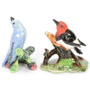 (2) Bird Figures Marked Stangl Pottery