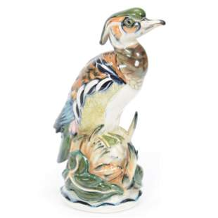 Wood Duck Figure #114, Pennsbury Pottery