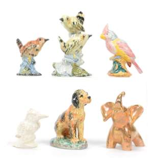 (6) Animal Figurines Marked Stangl Pottery