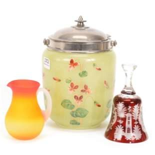 (3) Assorted Art Glass Items