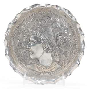 Victorian Silverplate Tray, Marked #188