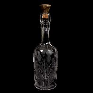 Whiskey Bottle, American Brilliant Cut Glass