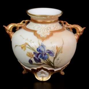 Vase, Two Handles, Royal Worcester #1176