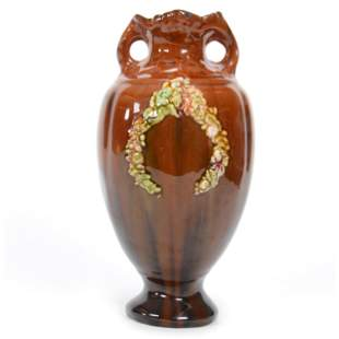 Two Handled Vase, Unmarked Peters & Reed Art Pottery