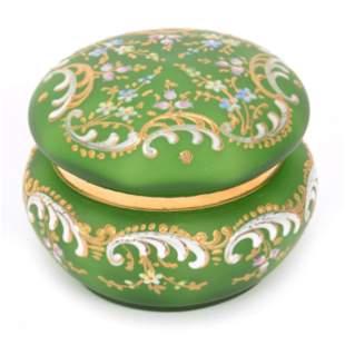 Vanity Box, Moser Style Art Glass
