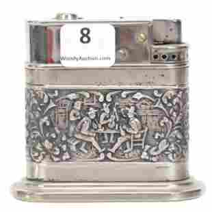 """Embossed Dutch Silver Lighter Marked """"835"""""""