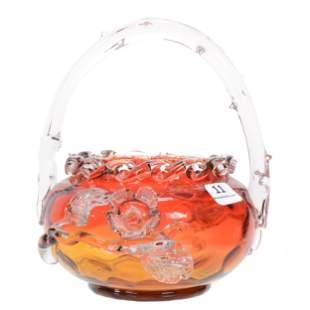 Basket, Amberina Art Glass Coinspot