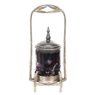 Victorian Pickle Castor, Purple Slag Insert