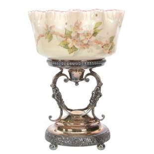 Victorian Brides Basket, Cased Art Glass Bowl